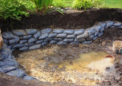 Как укрепить пруд на даче