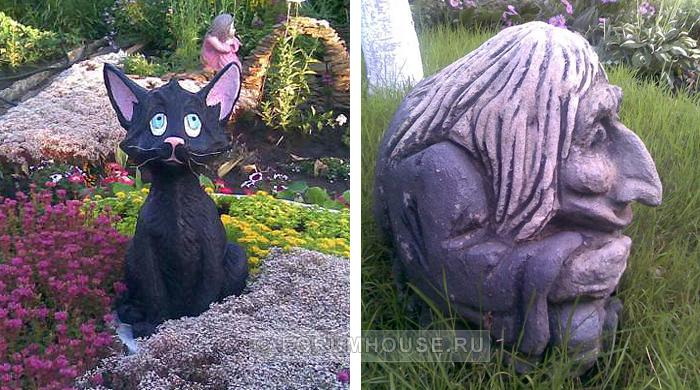 Как своими руками сделать садовую скульптуру 23